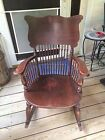 antique rocking chair Mahogany wood rocker REDUCED!