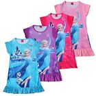 New Girls Frozen Queen Princess Elsa Pajamas Nightgown Sleepwear Dress Size 3-8