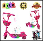 MONSTER HIGH RIDE ON TOY TODDLER KID CHILD SCOOTER 3 WHEEL PUSH KICK CAR