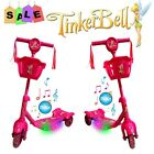 DISNEY TINKERBELL FAIRIES TODDLER KID CHILD SCOOTER 3 WHEEL OUTDOOR RIDE ON TOY