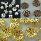 Wholesale Gold Silver Copper Plated Flower Bead Caps Jewelry Findings 10mm 12mm