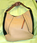 orYANY Pebble Leather Hazel Color-Block Hobo-Sand/Nude