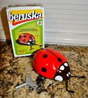 New Tin Key Wind Up Ladybug Mechanical Toy Beruska In Box! Hard to find Czech