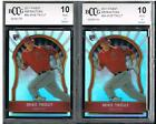 TWO (2) 2011 TOPPS FINEST REFRACTOR MIKE TROUT ROOKIES 549.....BCCG 10 MINT-G