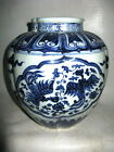Chinese Rare Graceful Blue&White Porcelain Phoenix Jar Free Ship K1133