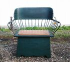 Antique Doctors Buggy Seat Bench Circa 1890 Dark Green America Country Poplar