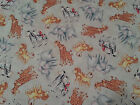 Baby Zoo Crew Animals BTY Helz Cuppleditch Quilting Treasures Giraffe Elephant
