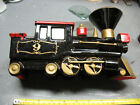 PIONEER LOCOMOTIVE  No. 9 CERAMIC PLANTER LOCO CADDY VINTAGE  JAPAN
