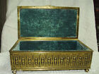 Antique Jennings Brothers Jewelry Casket or Spelter Box by Jennings Brothers