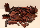 RARE 100 Pc Lego Lot BROWN DK B. Arches Flats Brick Castle Pirate Indiana Jones