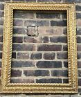 Large Vintage Gold Picture Mirror Frame Gesso Ornate, 23.75 x 29.75 inches