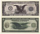 Three Classic Billion Dollar Novelty Notes AAC #287 w/ 'BIN' Bonus