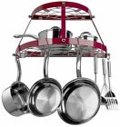 Range Kleen 2 Shelf Wall Mount Pot Rack Pan Storage Holder Organizer Red