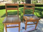 Vintage Antique Wood Wooden Furniture Childs Chair School Library Church 25