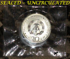 LAST YEAR MINTED! SEALED UNCIRCULATED GERMANY 1990 20 MARKS BIG 33mm GERMAN COIN