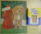 VINTAGE 1950'S PERFECT PICTURE PUZZLE puppy dog fire hydrant