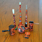 Vintage Lot Halloween Toy Tin Clickers Noisemakers US Metal, T Crown, Chein
