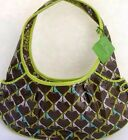 Vera Bradley Purse Tied Together Hobo Sittin' in a Tree Light Lime Green Forest