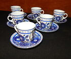 ANTIQUE DEMITASSE TURKISH COFFEE SET BY RUSSIAN IMPERIAL GARDNER