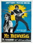 *RARE* BOLLYWOOD poster: Mr. Natwarlal* 1979 old vintage Indian *Amitabh* poster