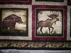 4 Panels ALPINE WOODS Bristol Bay Benartex Fabrics moose bear lodge look