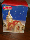 Mervyn's 1992 Christmas Village Square Church Lighted with Original Box