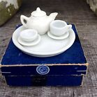VtG Germany USSR Occupied Teapot Cup Saucer Plate Tray Miniature Set In Box RARE