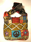 New Style! Hobo Hippie peace sign Handmade strap Cross body Nepal messenger bag