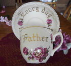 Beautiful Antique Ucagco Ceramic Oversized Fathers' Day Cup and Saucer~!! Lovely