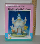 Rare Vintage Hand Painted Porcelain Easter Lighted House
