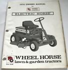 Wheel Horse E-60 Electric Lawn & Garden Tractor Owners Manual