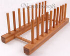 Bamboo Storage Organizer Holder Rack Stand/Plate Pan Mail Pot Lid Board Document