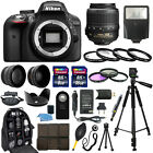 Nikon D3300 DSLR Camera +18 55mm VR NIKKOR Lens + 30 Piece Accessory Bundle