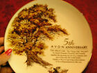 5TH AVON  ANNIVERSARY PLATE THE GREAT OAK PORCELAIN & 22K GOLD BEAUTIFUL