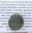 *HHC* AUTHENTIC Ancient Roman Coin, Constantine I the Great AE Follis, Sol,