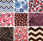 New! Minky Fleece Cuddle Softie Fabric Remnants - Assorted Styles