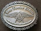 low 12 riders,widows sons, freemasons, masonic belt buckle