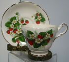 BEAUTIFUL,VINTAGE REGENCY  CUP AND SAUCER STRAWBERRY ENGLAND,RARE