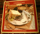 *NIB* Spode Christmas Tree Appetizer Plate with Knife