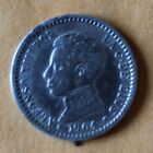 064. 1904 Spain Alfonso XIII 50 cents, 2.5 grams, 18 mm., .835 silver