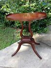 Duncan Phyfe Style Mahogany Side Table with Lyre Base, Circa 1920