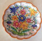 Hand Made In Italy By S. Barry Floral Dish Vintage Italian Pottery