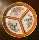 Vintage Japanese Hand Painted 3 Section Divided Dish MORIYAMA MORI-MACHI