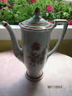 Antique/Vtg Noritake Coffee Pot~Lovely Wildflowers & 10