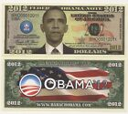 Three 'Obama for President' 2012 Dollar Novelty Notes AAC #374   'BIN' Bonus