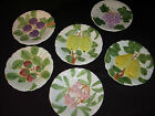 FRUIT DU JOUR PLATES Set/6 SHAFFORD Japan VTG 1967 Cherry Pear Grape Strawberry