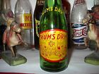 EXCELLENT VINTAGE ACL RUM DRY PALE GINGER ALE 6 OZS SODA BOTTLE  A NEHI PRODUCT