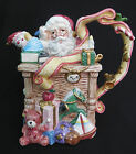 Fitz and Floyd Santa's List Pitcher Ceramic 1994 Rare Collector