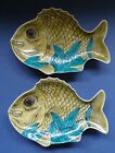 PAIR OF JAPANESE KUTANI PORCELAIN FISH DISHES - LATE 19TH / EARLY 20TH CENTURY