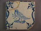 Antique Dutch Delft tile bird Candelabra rare tiles 17th century - free shipping